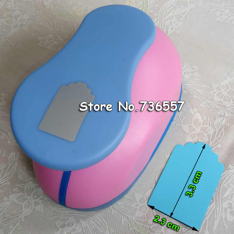Livraison gratuite 1.5 pouces polygone EVA perforateur papier perforateur pour carte de voeux à la main album à faire soi-même géométrie artisanat poinçon machine