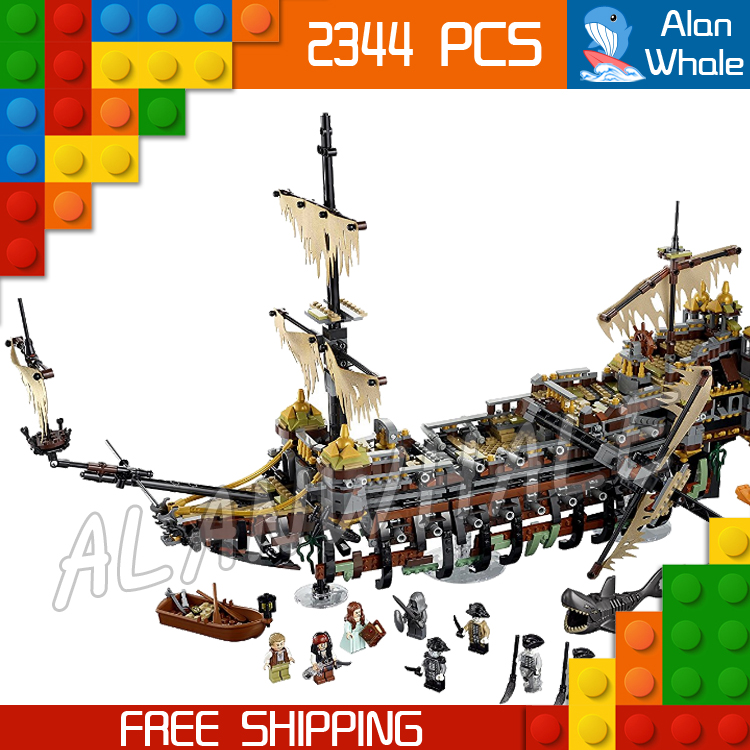 2344pcs Pirates of the Caribbean 16042 Silent Mary Model Building Blocks Assemble Bricks Ships Boats Toys Compatible With Lego hot classic movie pirates of the caribbean imperial warships building block model mini army figures lepins bricks 10210 toys