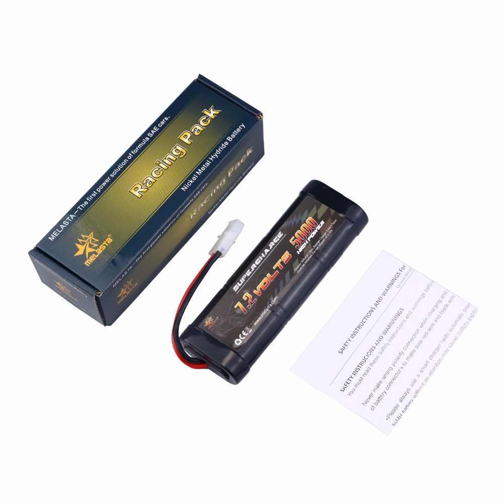MELASTA 7,2 V 5000 mAh NiMH перезаряжаемый RC игрушечный аккумулятор с разъемом разрядки Tamiya для Радиоуправляемый гоночный автомобиль Лодка Самолет