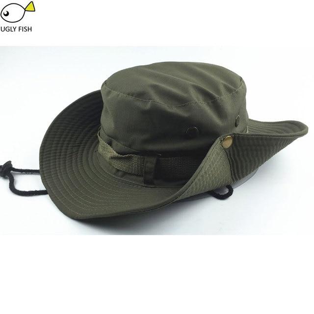 bcd33ebe06591 Sombrero de cubo sombreros de Sol para hombres gorra de pescador sombreros  militares cappello pescatore hombres