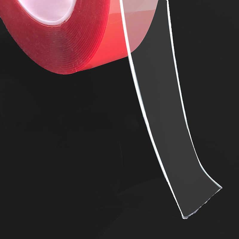 300 Cm Silikon Transparan Pita Sisi Ganda Kekuatan Tinggi Tidak Ada Jejak Pita Perekat Stiker Living Barang untuk Stiker Mobil