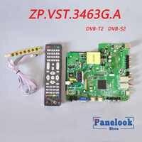 New ZP.VST.3463G.A Universal Digital Driver Board Supports DVB-T2 / DVB-S2 / DVB-C + 7 Key Switch