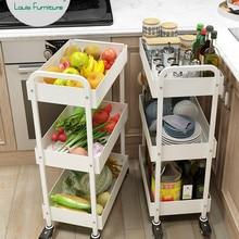 Луи мода корзина кухонная стойка многоэтажная кухонная корзина напольный мобильный