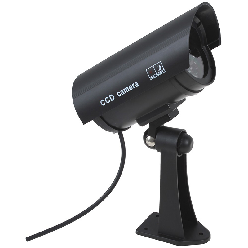 Fake Dummy Camera Waterproof Outdoor Fake Camera Battery Powered Flicker Blink LED Security Bullet CCTV Camera