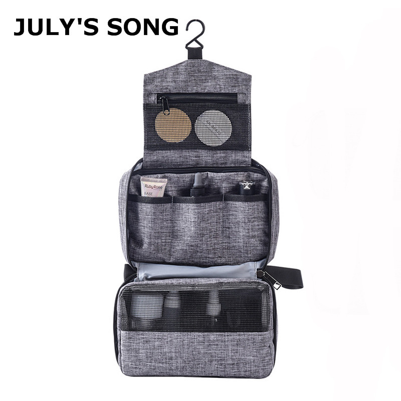 JULY'S SONG Cation Waterproof Cosmetic Bag Large Capacity Hook Up Makeup Bag Toiletries Organizer Multifunction Travel Wash Bag