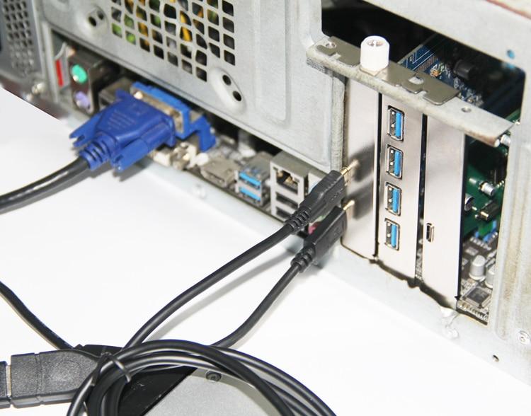 2 պորտ USB 3.1 Type-C PCI Express Card + PCIe ցածր - Համակարգչային բաղադրիչներ - Լուսանկար 6