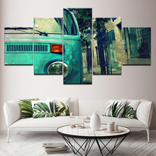 Retro car poster 5 Piece Wallpapers Art Canvas Print modern Poster Modular art painting for Living Room Home Decor цены