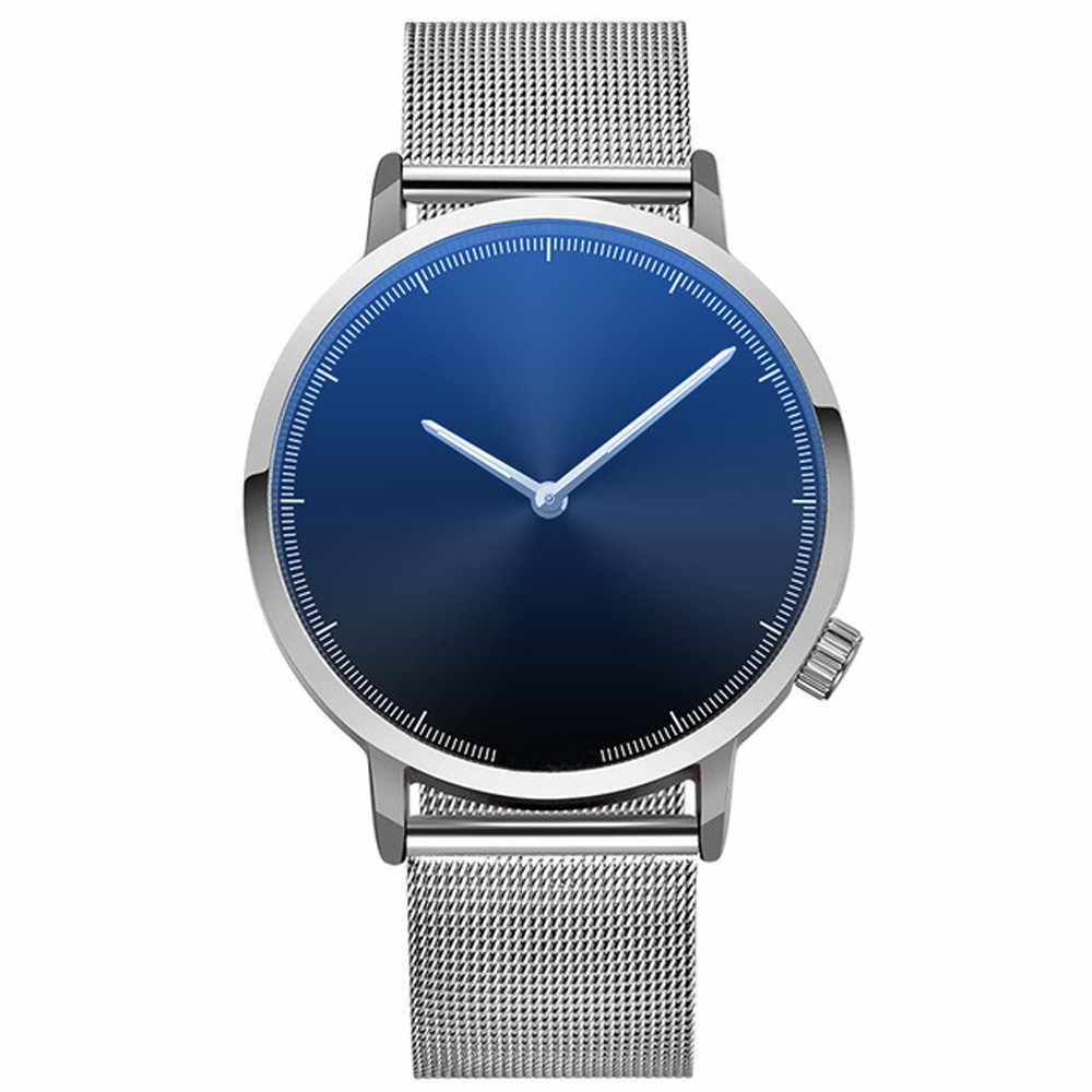 מותג יוקרה קלאסי פלדה שעונים גברים Erkek Saat קוורץ שעון יד אופנה כסף איש נשים יוניסקס עיצוב Relogio Feminino-30