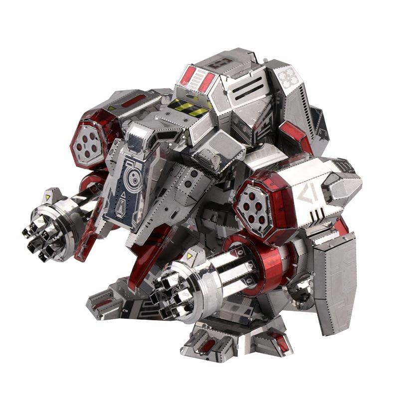 MU 3D Metal Puzzle Star Craft Terran Viking Set Armor Plane Model DIY 3D Laser Cut