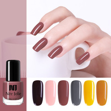 NEE JOLIE 3.5ml Nail Polish Pure Colors Manicur Colorful Art Varnish Fast Dry DIY Design 12 Available