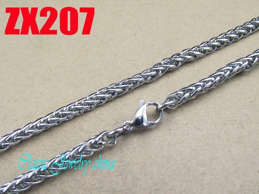 Ожерелье из нержавеющей стали, 50 метров (без деталей), 5 мм, в виде цветочной корзины, мужские Модные цепи в стиле панк, ZX207