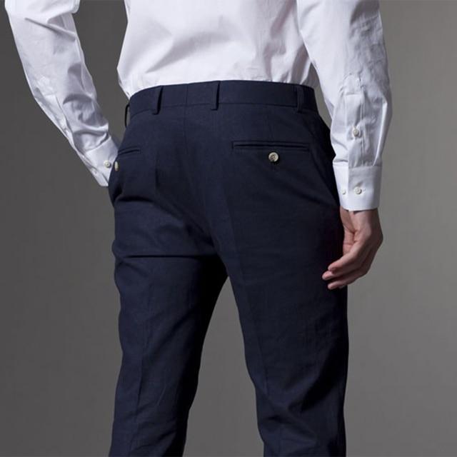 Hommes Costume hommes smoking sur mesure Mariage costumes pour hommes 2019 sur mesure bleu marine léger hommes costumes avec pantalon Costume Homme Mariage