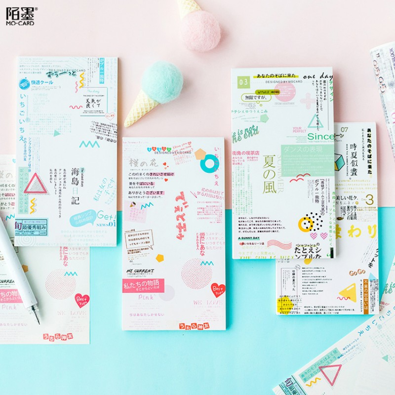 30 sheet Japanese magazine series memo pad paper post notes sticky notes notepad stationery papeleria school supplies kids gifts
