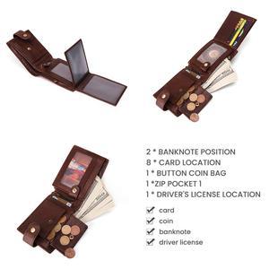 Image 4 - GENODERN 新到着ヴィンテージ RFID 男性財布ハスプ機能つ折り財布男性大容量の男性の財布