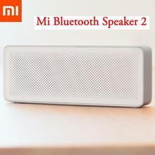 Orijinal Xiaomi Mi Bluetooth hoparlör kare kutu 2 Stereo taşınabilir Bluetooth 4.2 yüksek çözünürlüklü ses kalitesi hoparlör Mic ile
