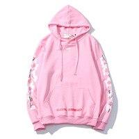 Белая толстовка с капюшоном бренда cherry blossom arrow trend fashion hoodie