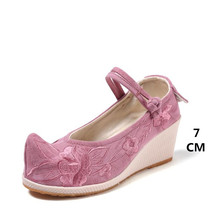 цены 2019 New Chinese folk style classic retro women's singles shoes spring exquisite embroidery wild casual Old Beijing cloth shoes