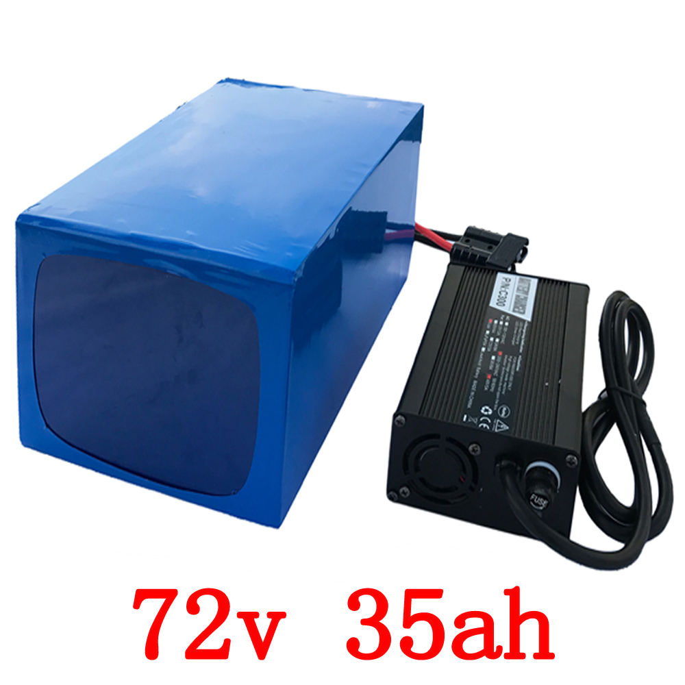 72V 35AH Lithium Battery 72v 35ah electric bicycle Battery 72V 3000W Li-ion Battery with 50A BMS +5A Charger Free Shipping