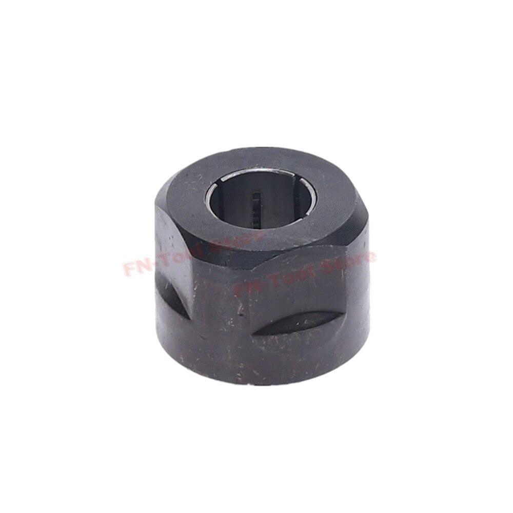 1 Pc Schwarz Metall Collet Mutter Plunge Router Teile 12,7mm Zentrum Loch Durchmesser 22,5x27mm Für Makita 3612
