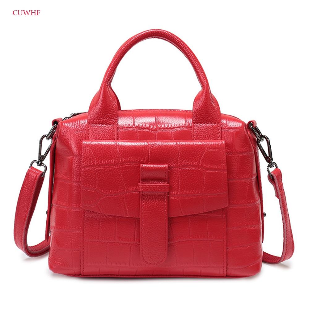 CUWHF New style 100% Genuine leather Women handbags bags female stereotypes fashion handbag Crossbody Shoulder Handbag lkprbd new handbag fashion 100
