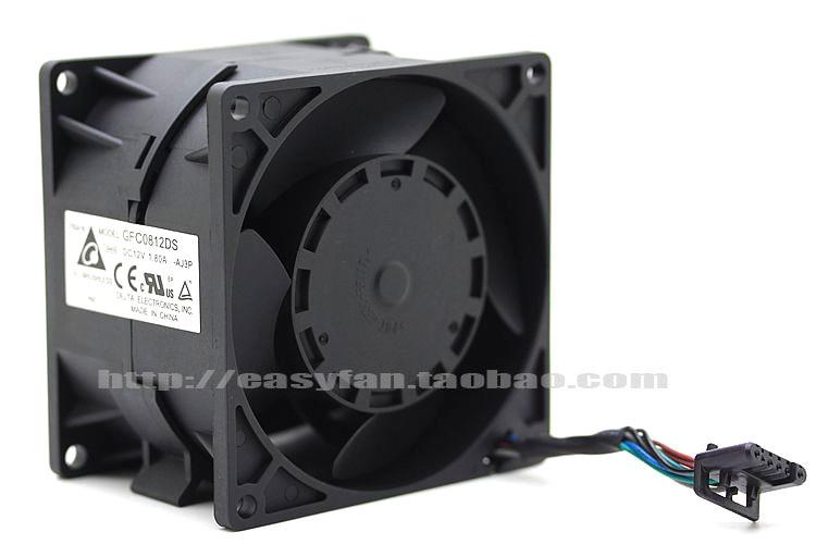 Delta GFC0812DS AJ3P DC 12V 1.8A 8-wire 80X80x55mm Server Square fan