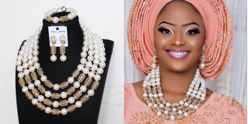 HTB1P UHX81D3KVjSZFyq6zuFpXaI 4UJewelry Peach Nigerian Wedding Set African Beads Big Design Bold Costume Choker Set Free Shipping Bridal Jewelry Set 2019 New