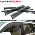 4pcs/lot Window Visors For Chevrolet Captiva 2012 2013 2014 2015 Sun Rain Shield Stickers Covers Car Styling Awnings Shelters
