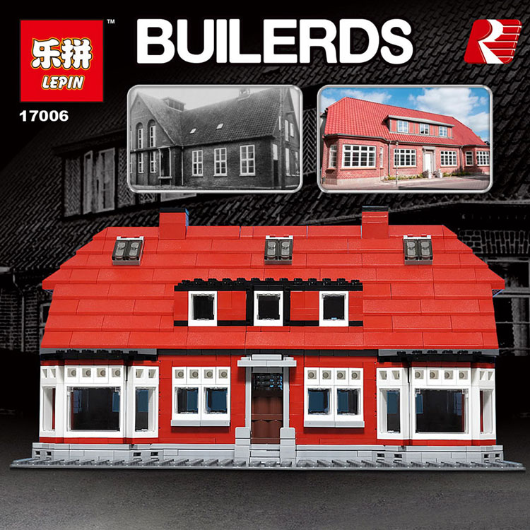Lepin 17006 928Pcs The Red House Set Education Building Blocks Bricks Model Toys For Children Gift Compatible legoed 4000007 lepin 02012 city deepwater exploration vessel 60095 building blocks policeman toys children compatible with lego gift kid sets