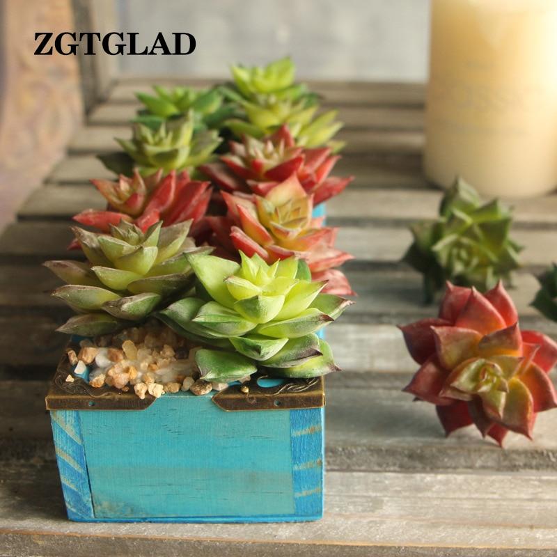 1pcs Top Quality Artificial Fleshiness Cactus Plant Mini Palm Bonsai Local  Landscape Decorative Flower For Home Table Decoration