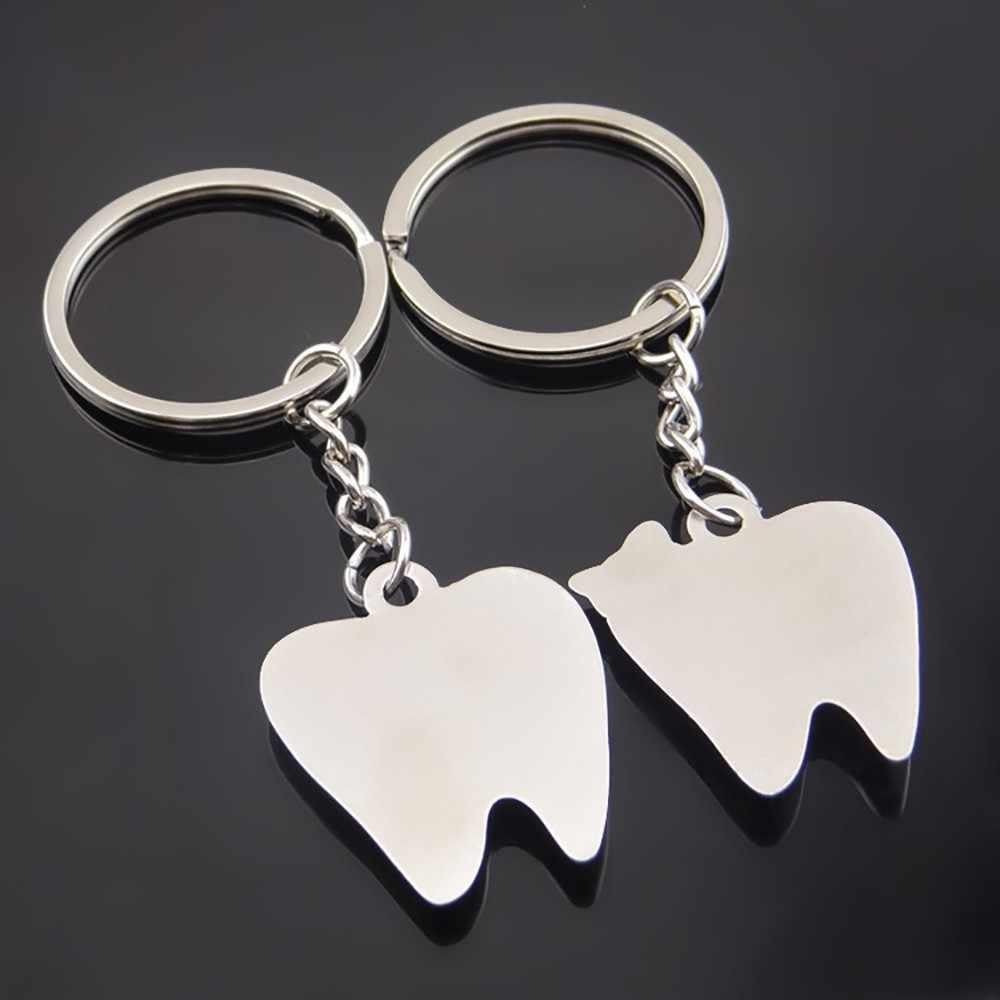 Llavero creativo dientes pareja colgante llavero Metal coche llavero actividad regalo abalorio regalo Día de San Valentín