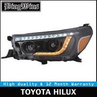 Car Style For Toyota Hilux headlights Revo Headlight Vigo Head lamp 2016 2017 Bi Xenon High Lowbeam Lens HID Yellow Turning