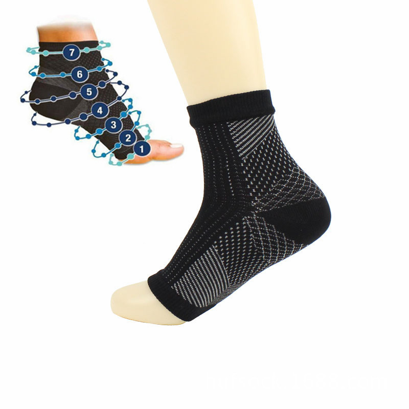 Newest Comfort Foot Anti Fatigue Men/women Compression Socks Sleeve Elastic Socks For Men/Women Ankle Guard Socks One Pair