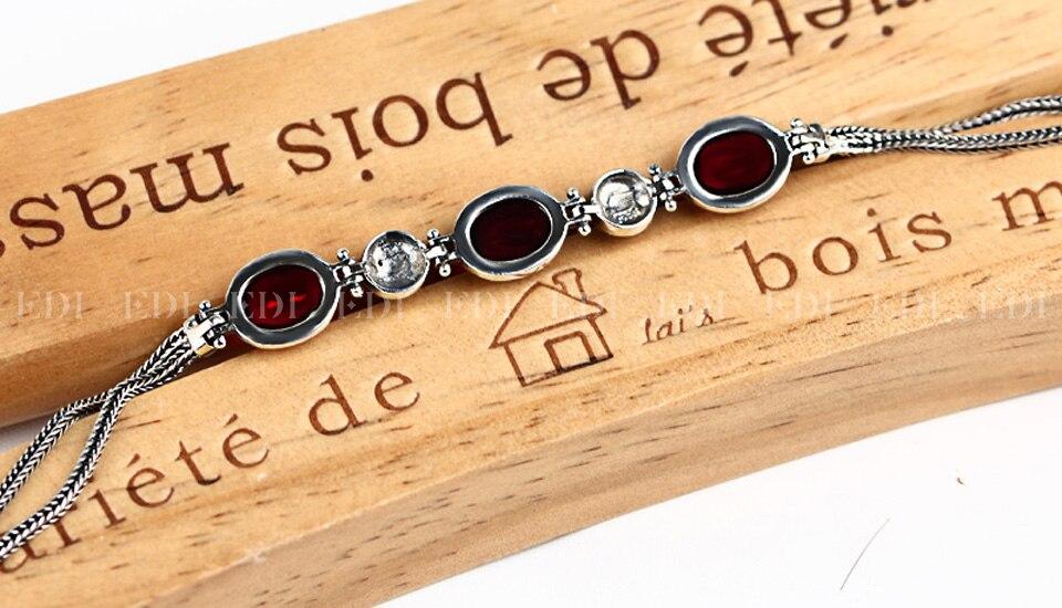 Red Gemstone Bracelet - back