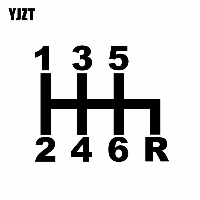 YJZT 15.6CM*13.5CM GEAR Shift Car Sticker Personality Vinyl Decal Black Silver C10-01124