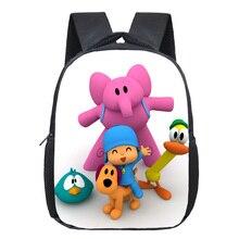 13 Polegada pocoyo elly pato loula mochila estudantes sacos de escola meninos meninas mochilas diárias crianças saco melhor presente mochila