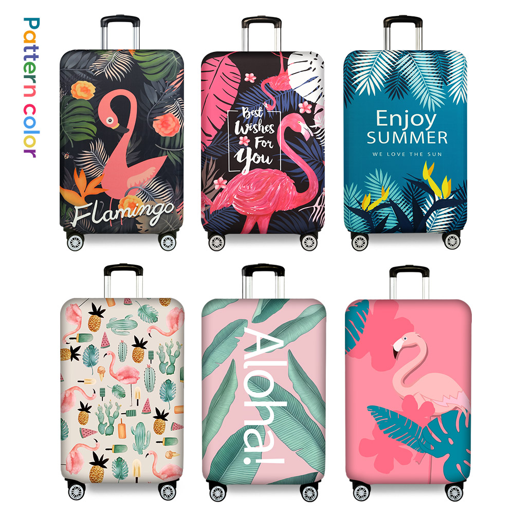 Flamingo Suitcase Protective Cover Travel Accessories Thicker luggage Cover Elastic Luggage Case Dust Cover Apply to 18-32 inch