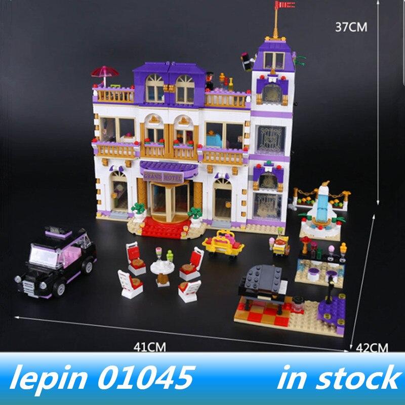 lepin 01045 lepin Friends Heartlake Grand Hotel Model Building Blocks legoing friends Heartlake Grand Hotel building blocks toys grand toys автомат gt7849