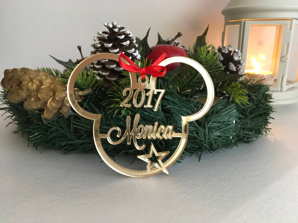 Personalized Christmas Ornament.Us 8 39 16 Off Custom Name Ornament Acrylic Personalized Christmas Ornaments Micky Gifts Couple Newlywed Gift Laser Cut Customize Tags In Pendant