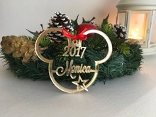 custom name ornament acrylic personalized christmas ornaments micky gifts couple newlywed gift