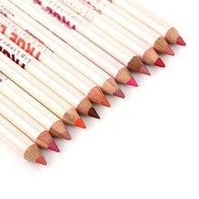 12pcs Professional Multi-functional Lipliner Pencil Long Lasting Waterproof Lip Eye Brow Cosmetic Makeup Colorful Liner Pens