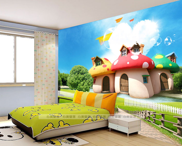Cartoon bedroom wallpaper for Cartoon mural wallpaper
