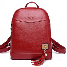 Cow Genuine Leather Women Backpacks New Fashion Luxury Brand