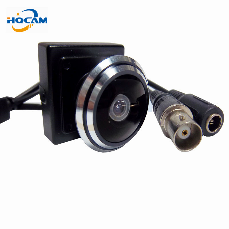 HQCAM CMOS Color Mini 800 TVL CCTV security Camera 1.78mm Fisheye Lens Wide Angle Mini cctv camera security camera MINI Kamera
