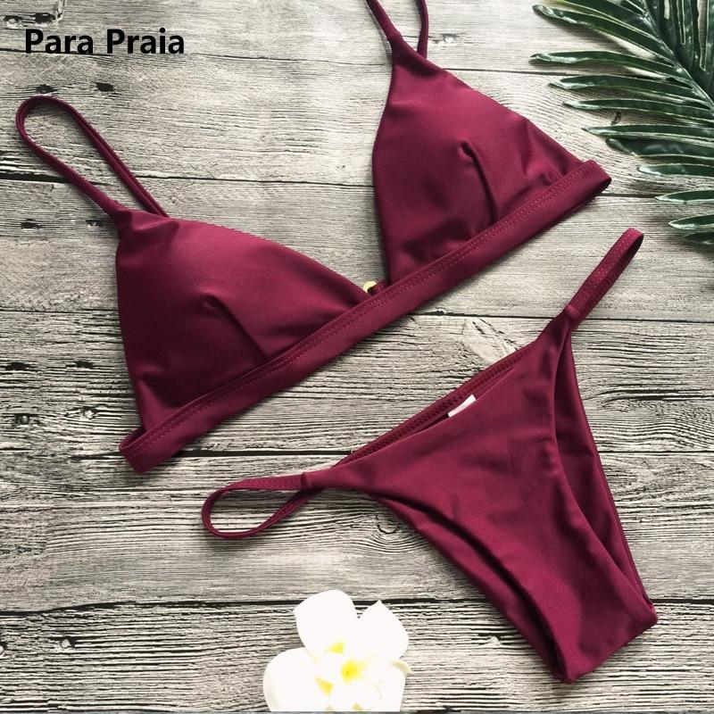 HTB1P Vhk3KTBuNkSne1q6yJoXXaK 9 Colors Solid Bikini Set 2019 Sexy Push Up Swimwear Women Brazilian Swimsuit Low Waist Biquini Halter Two Pieces Bathing Suit