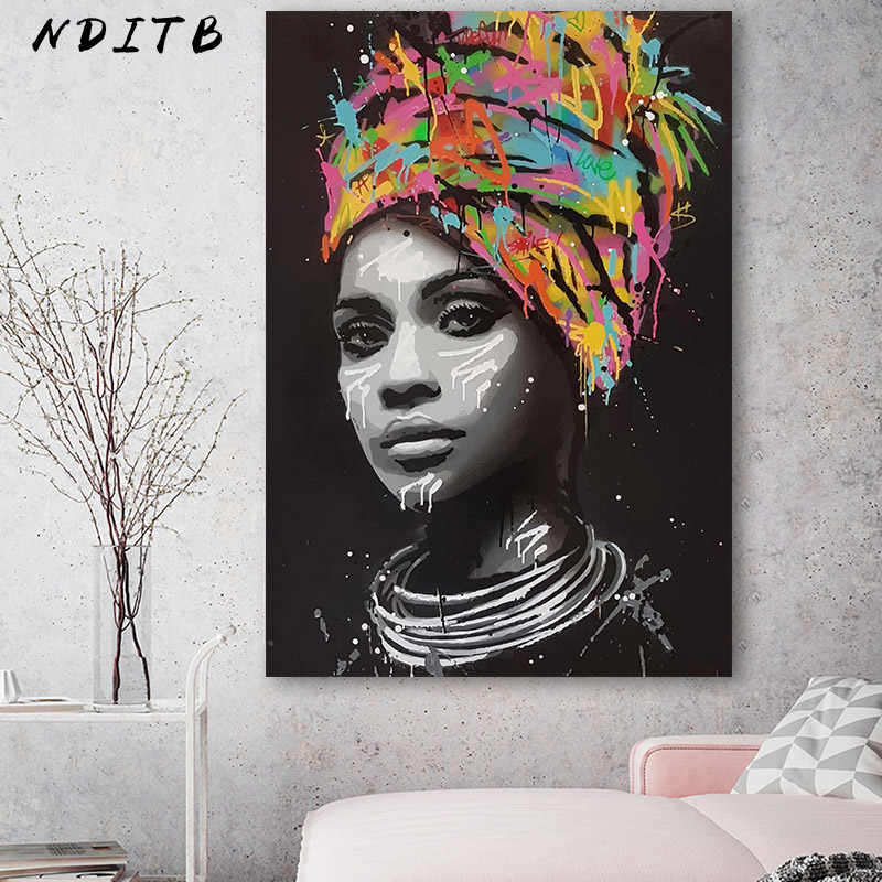 Canvas Painting Figure Decorative Picture Wall Art Abstract Woman Portrait Poster and Print Modern Home Living Room Decoration
