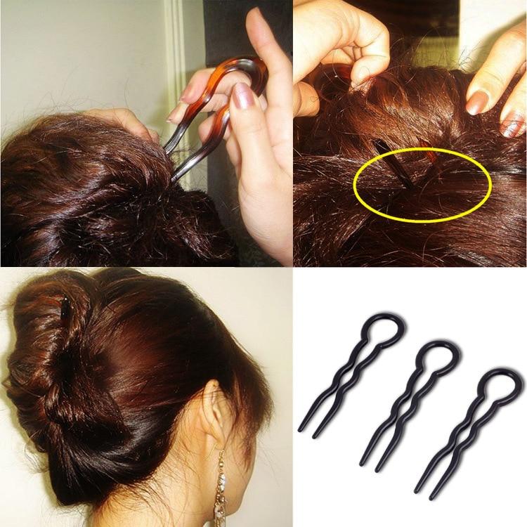 3pcs Moterys Paprasta Greita spiralinė plaukų svirties posūkis Styling DIY Formalūs plaukų stiliaus įrankiai Grožio įrankių rinkinys plaukų aksesuarams