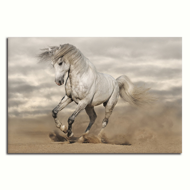 No frame Running Horse Abstract Canvas Painting Print On Canvas Unique Gift For Home Decor Wall Artwork,Animal Posters Wall Art