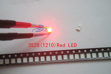 100pcs SMD Chip 3528 Red LED 20mA 2V plcc2 plcc4 Ultra Bright Light 3-4LM 1210 Surface Mount SMT Light-Emitting Diode Beads Lamp(China)