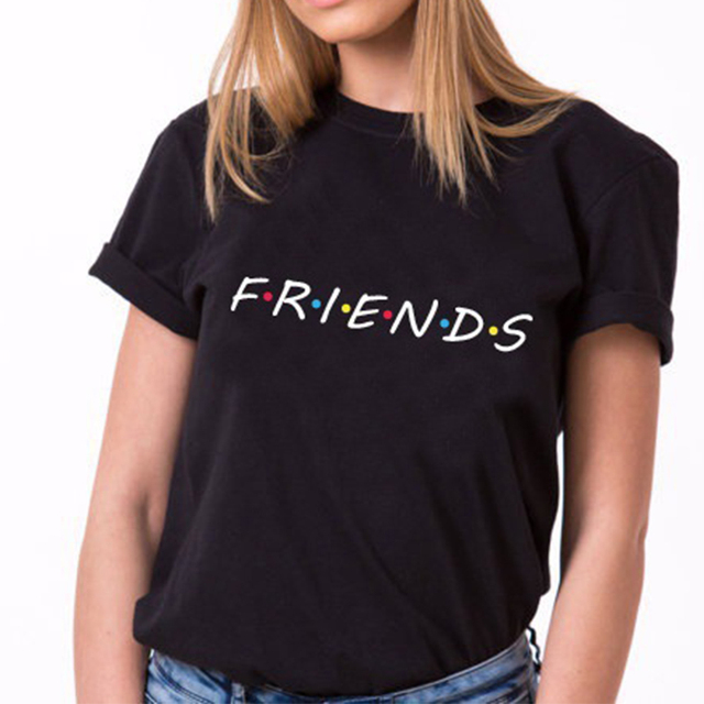 2572fa0e905 Friends Tv Show T-Shirt Letter Printing Aesthetic Clothing Women s Graphic  Tees Tumblr Popular Summer Style Tops t shirt