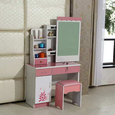 fashion bedroom make up dresser with a mini cabinet and a movable